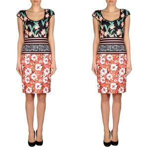 Clover Canyon Floral Black & Orange Midi Dress